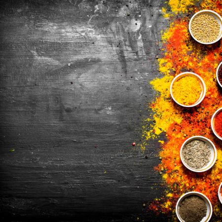 Cafés et épices exotiques