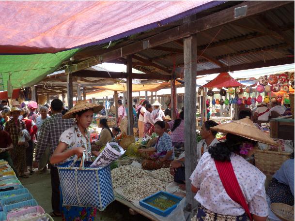 marché birmanie